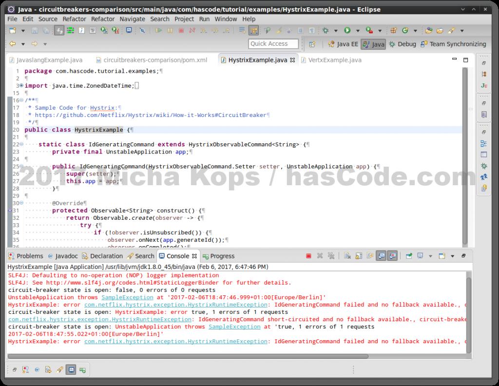 Hystrix Circuit Breaker running in Eclipse IDE