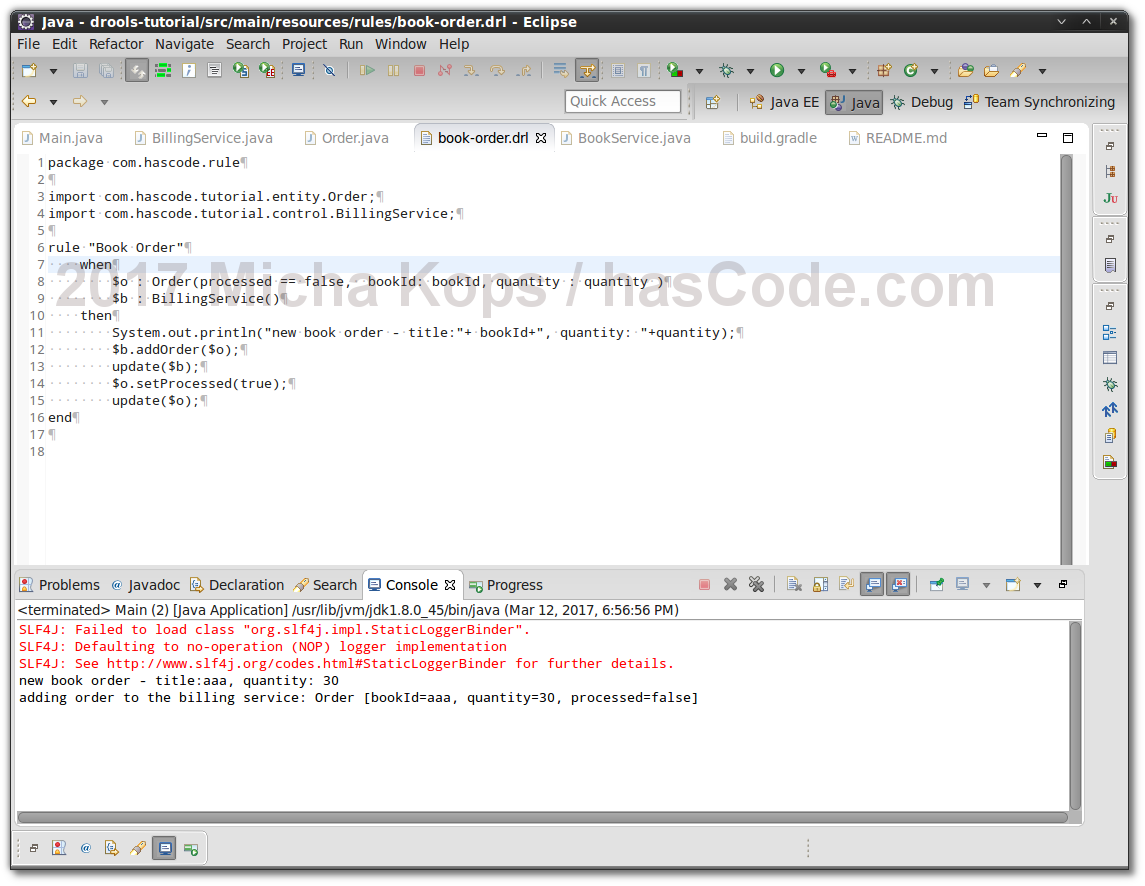 Hascode blog archive snippet integrating the drools drools example running in eclipse ide baditri Gallery