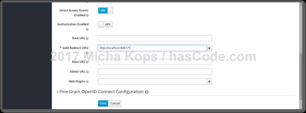 Keycloak - Configure valid redirect URL patterns