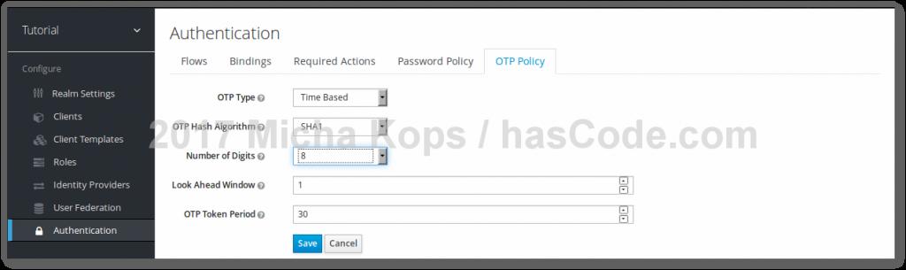 Keycloak - Configuring OTP Digit Size