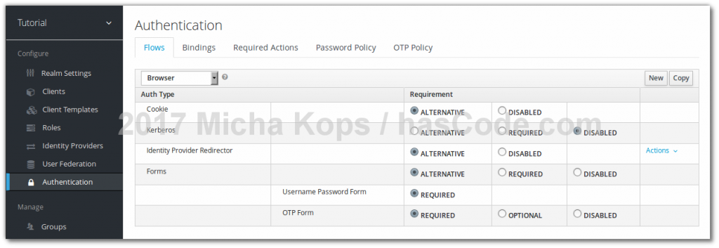 Keycloak - Configuring OTP Form Requirement