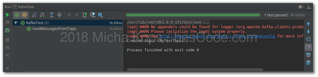Using kafka-unit programmatical